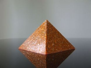 2nd Sacral Chakra Orange Orgone Pyramid